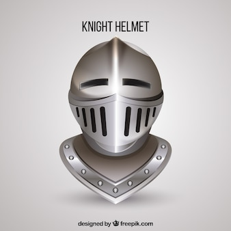 Knight helmet with realistic style