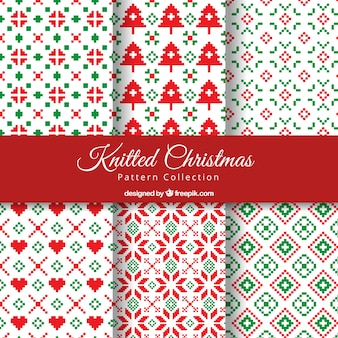 Knitted decorative christmas patterns