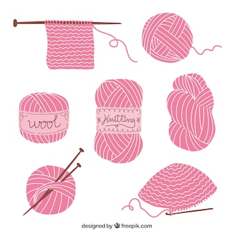 Knitting elements