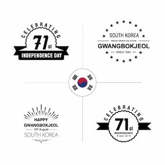 Korea independence day badges