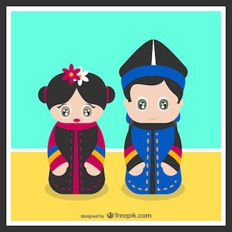韓国の典型的な衣装