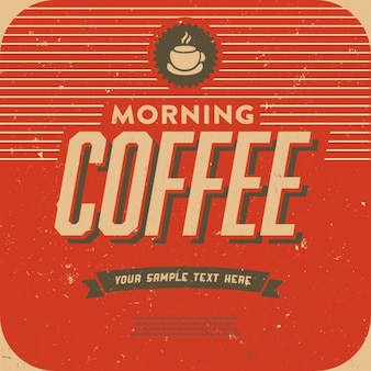 Label about morning coffee