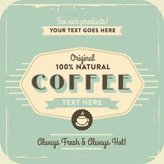 Label about natural coffee