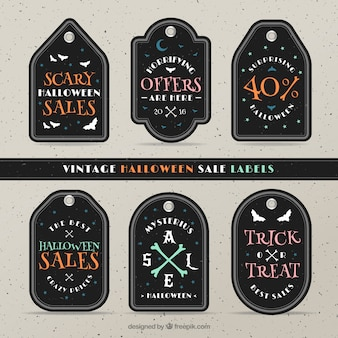 Label collection of halloween offers