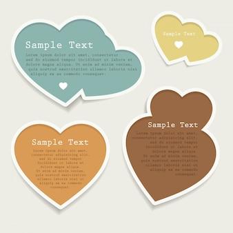 Label gift tweet heart symbol