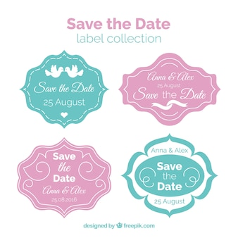 Labels about save the date for wedding