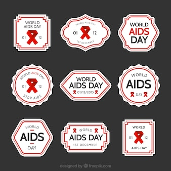 Labels collection of world AIDS day