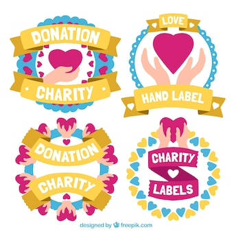 Labels for charity