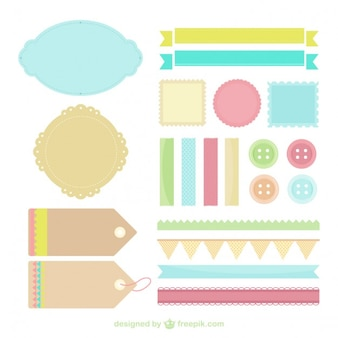 Labels in pastel colors