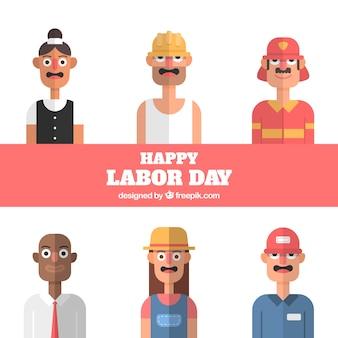 Labor day avatars