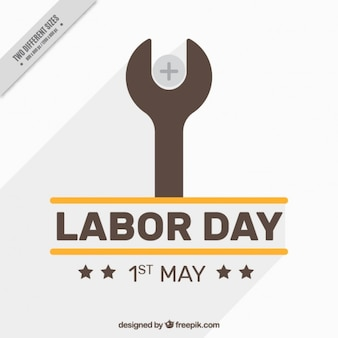 Labor day background with a flat wrench