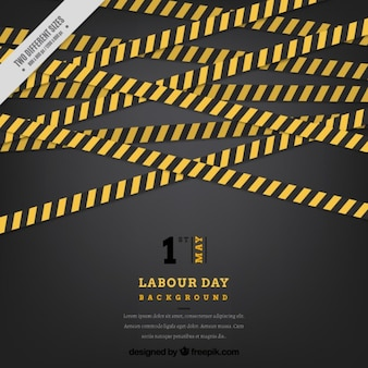 Labor day background with building bands
