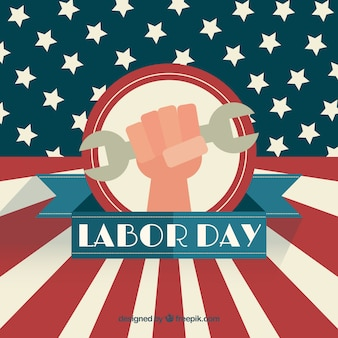 Labor day background with usa flag design