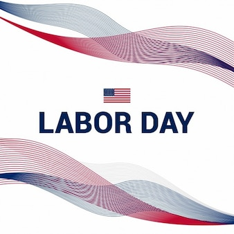 Labor day background with wavy lines