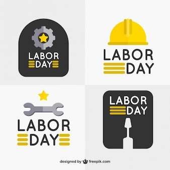 Labor day badges collection