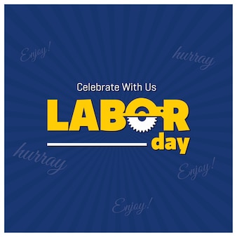 Labor day design on starburst background