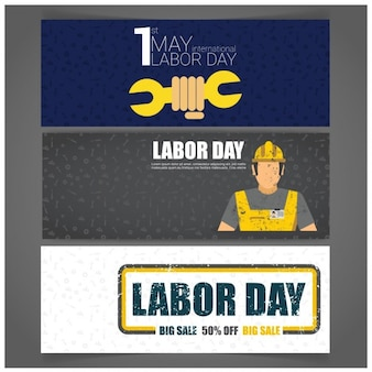 Labor day discount banners