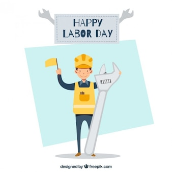 Labor day illustration background