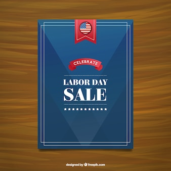 Labor day sale poster in navy blue color