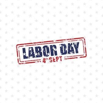 Labor day stamp design