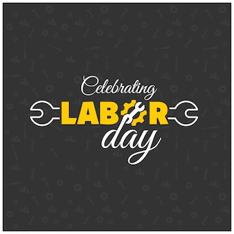 Labor day typography