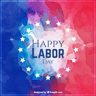 Labor day watercolor background