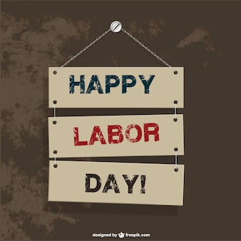 Labor's day hanging signs