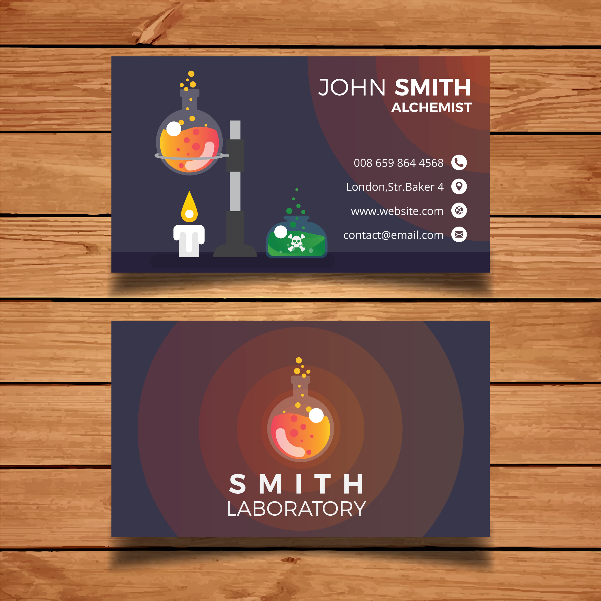 Laboratory business card template