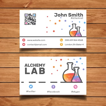 Laboratory business card