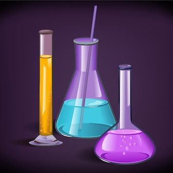Laboratory glassware print template