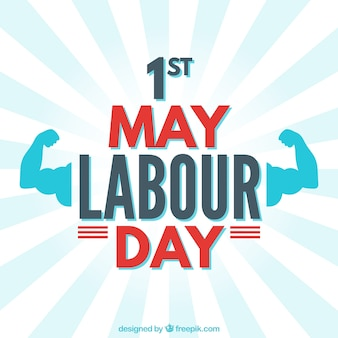 Labour day background with muscles
