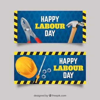 ツールと労働の日バナー
