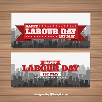 Labour day city banners