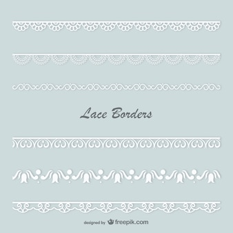 Lace borders vector set
