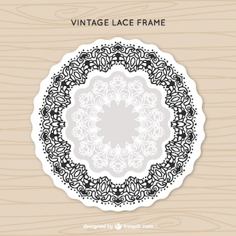 Lace frame in vintage style