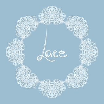 Lace ornamental frame
