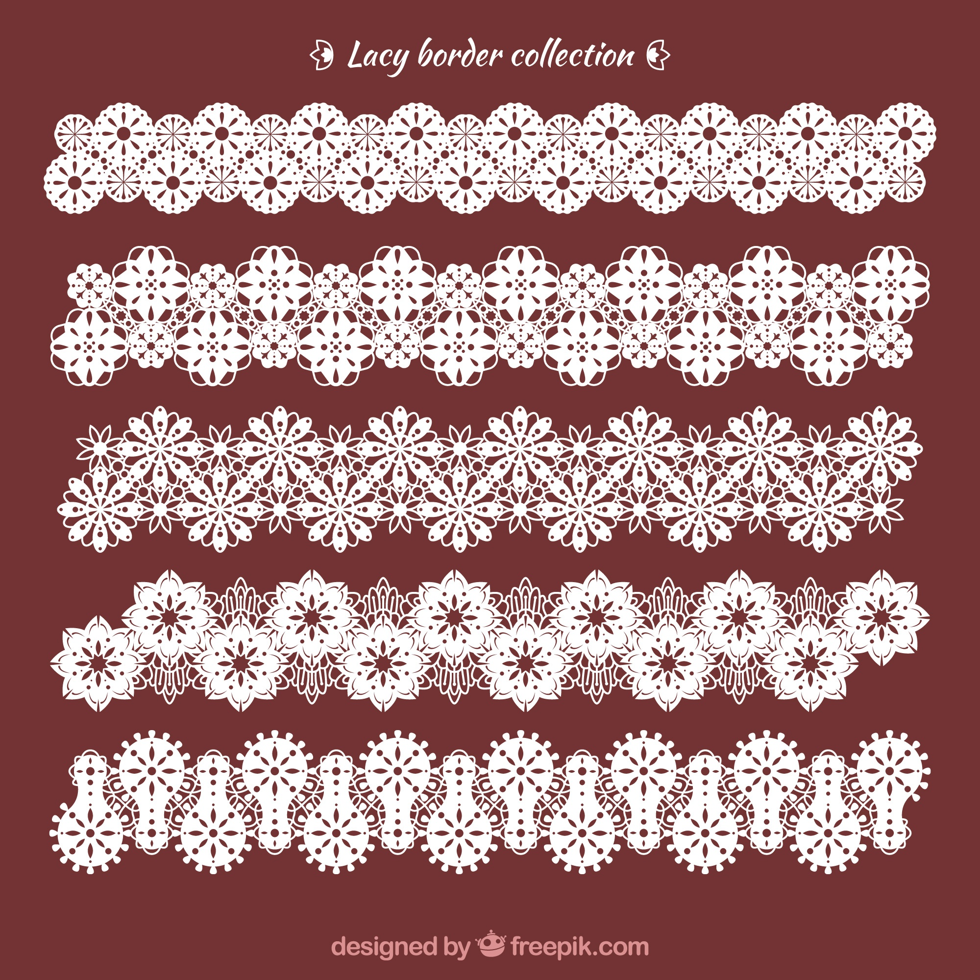 Lace ornamental ornaments pack