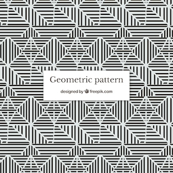 Lack and white geometric pattern background