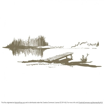 Lakeside dock rustic background