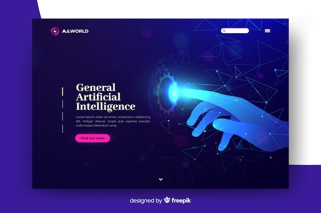 Landing page artificial intelligence template