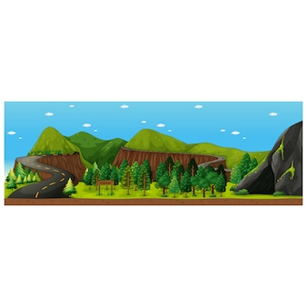 Landscape background design