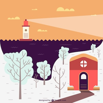 Landscape maritime winters
