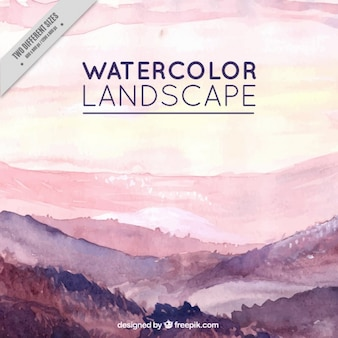 Landscape painted with watercolors