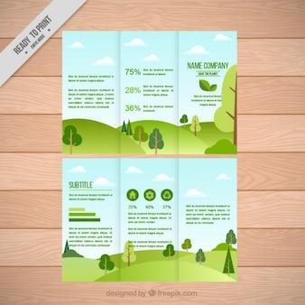Landscape trifold templates