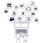 Laptop elements icons