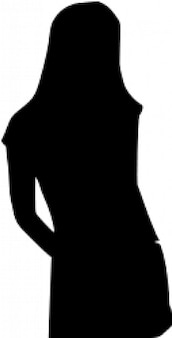 Large girl silhouette vector