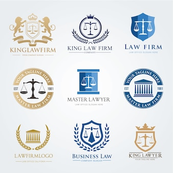 Law firm logo icon vector design. Lawyer logo design set