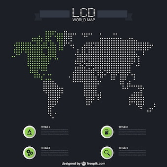 LCD world map infographic