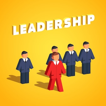 Leadership and entrepreneurship concept