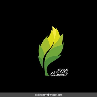 Leaf eco logo